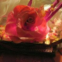 Guirlande *roses* porcelaine à froid