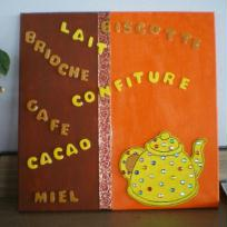 Toile peinte Petit déjeuner, orange et chocolat