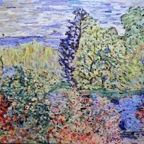 Coin de jardin à Montgeron, influence Claude Monet