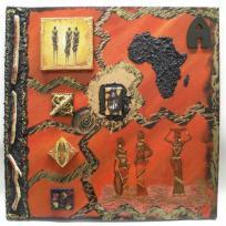 Tableau home deco continent d'Afrique
