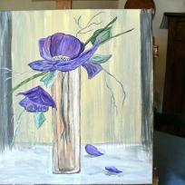 Fleurs violettes se tournant vers le soleil