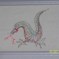 Dentelle aux fuseaux : Dragon.