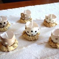 P'tits nids en coquille d'oeufs pour Pâques