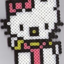 Hello Kitty en perles Hama, amie de toutes les filles