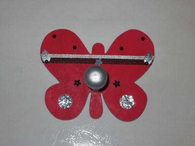 Cr ation porte manteau papillon pour une chambre de petite fille cr ation chambre d 39 enfant de - Porte manteau chambre fille ...