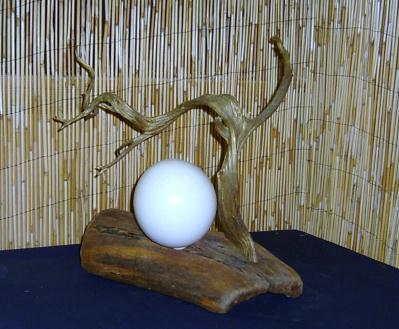 cr ation lampe r alis e en bois flott cr ation lampes et guirlandes lumineuses de jch34 n. Black Bedroom Furniture Sets. Home Design Ideas