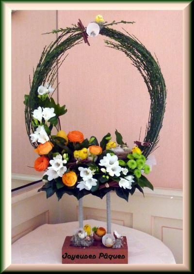 couronne de p ques 2012 cr ation art floral de. Black Bedroom Furniture Sets. Home Design Ideas