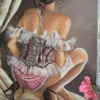 Création tableau 3d : la femme au corset.......