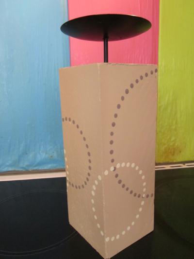 cr ation bougeoir cube en bois et fer cr ation bougies de valerie8916 n 45 838 vue 1 898 fois. Black Bedroom Furniture Sets. Home Design Ideas