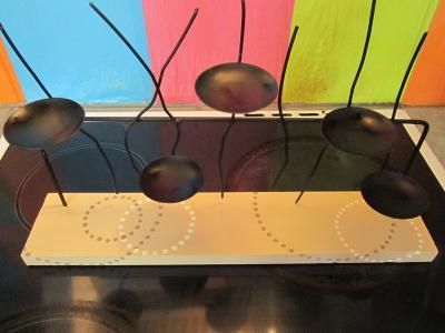 cr ation bougeoir en bois et fer 5 bougies cr ation bougies de valerie8916 n 45 839 vue. Black Bedroom Furniture Sets. Home Design Ideas