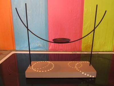 cr ation d 39 un bougeoir en bois et fer cr ation bougies. Black Bedroom Furniture Sets. Home Design Ideas