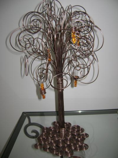 cr ation fil aluminium arbre d co cr ation d coration