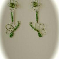 Création boucles d'oreilles papillons - envol de papillons en fil d'aluminium