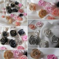 Création roses en Fimo et poudre Pearl Ex