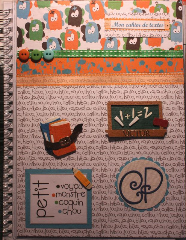 cr ation cahier de texte rentr e 2012 gar on 6 ans cr ation scrapbooking de izabreizh n 46 599. Black Bedroom Furniture Sets. Home Design Ideas