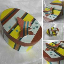 Création Masking tape - boîte papillon