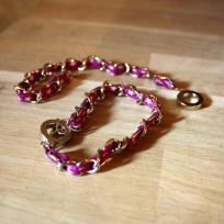 Création bracelet en Liberty à étoiles Violet