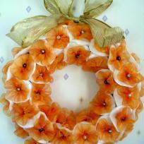Décoration couronne de Noël en polystyrène