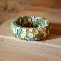 Création bracelet en liberty Mitsi Vert