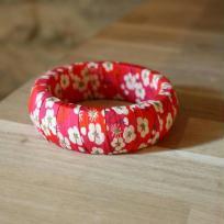 Création bracelet en liberty Mitsi Fuchsia