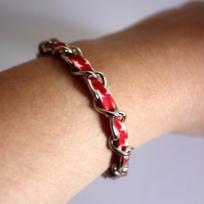 Création bracelet chaînette à étoiles - Rouge