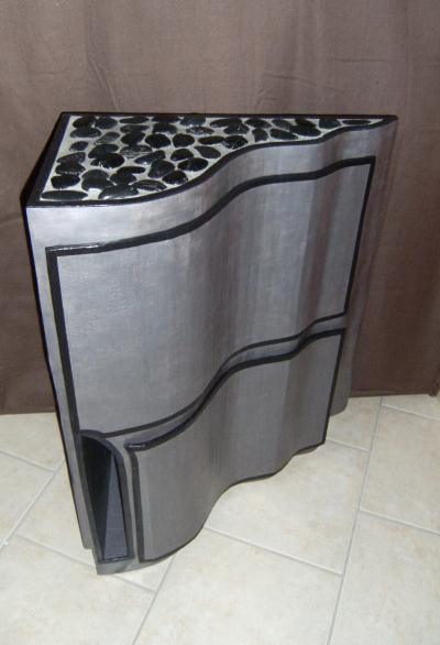 Cr ation meuble en carton d 39 angle galet cr ation meuble for Creation meuble carton