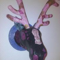 Fabrication décopatch :tête de renne