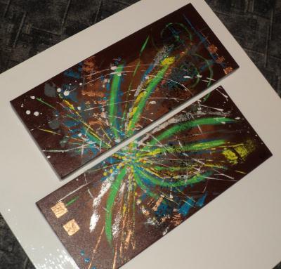 Peinture acrylique comme un clat cr ation beaux arts peinture de esmer - Eclat baignoire acrylique ...