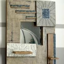 Création décoration : miroir en carton photophore soliflore