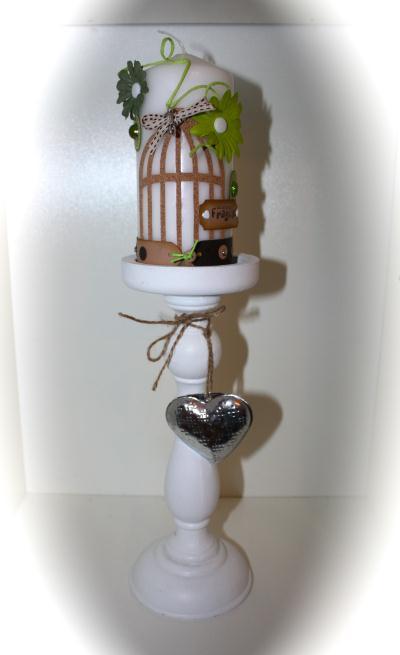 cr ation bougie blanche ternelle sur pied cr ation d coration de jojoproduscrap n 48 395 vue. Black Bedroom Furniture Sets. Home Design Ideas