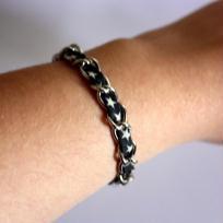 Création bracelet chaînette à étoiles - Gris