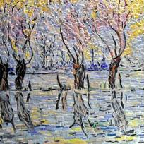 Mosaïque;Inondations à Giverny.influence,Claude Monet.