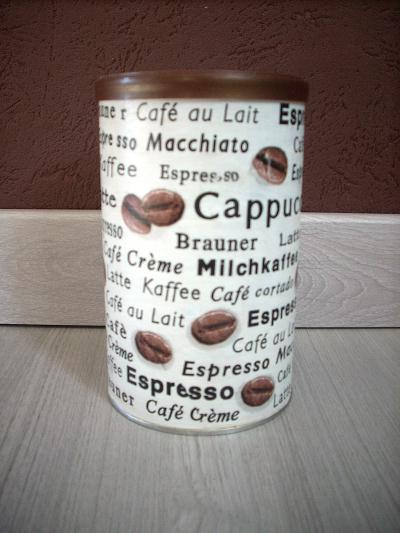 Création pot en métal pour dosettes à café
