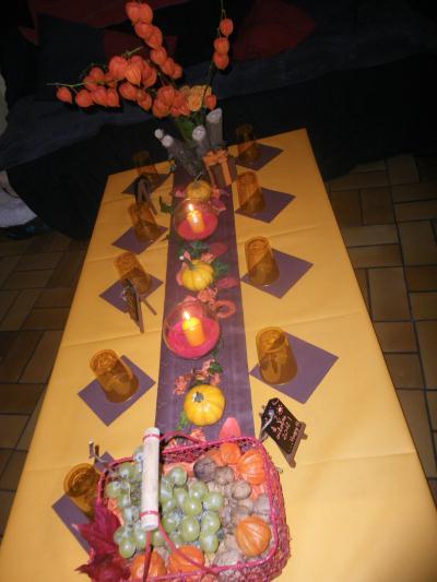 Décoration de table  table automnale aux couleurs