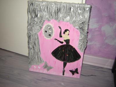 cr ation cadre danseuse avec rideau cr ation encadrement de dominique3850 n 48 806 vue 1 908. Black Bedroom Furniture Sets. Home Design Ideas