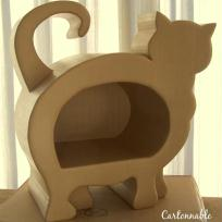 Création niche en carton pour chat
