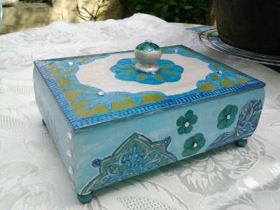 d coration de boite bijoux en d copatch cr ation d coration de bo te de genevieve6844 n. Black Bedroom Furniture Sets. Home Design Ideas
