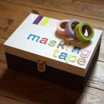Décoration de boîte pour mon masking tape