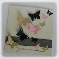 Création Carte d'anniversaire - envol de papillons