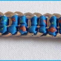 Création recyclage: un bracelet en languette de canette