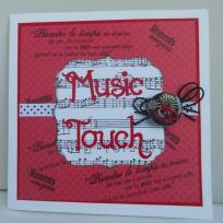 Création carte remerciement sur le thème de la musique