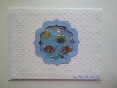 D coration carte aquarium et poisson cr ation carterie for Poisson decoration aquarium