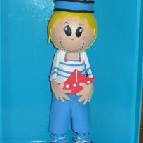 Fabrication poupée fofuchos : petit marin d'eau douce