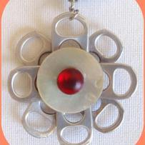 Création fleur de canette pour un médaillon