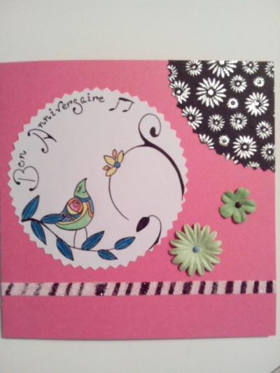 cr ation carte anniversaire oiseau cr ation carterie faire part de duchesse 88 n 49 885 vue. Black Bedroom Furniture Sets. Home Design Ideas