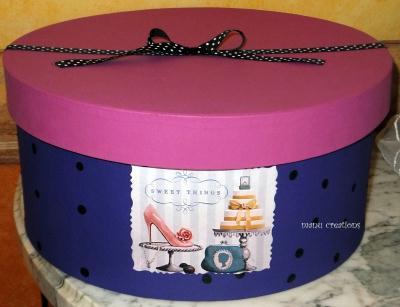 d coration grande boite a chapeau en papier mache cr ation d coration de bo te de manuela6286. Black Bedroom Furniture Sets. Home Design Ideas