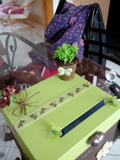 D coration d 39 une urne pour les 50 ans de ma soeur th me for Decoration 50 ans