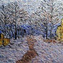 Création mosaïque : Effet de neige à Limetz,Influence Claude M