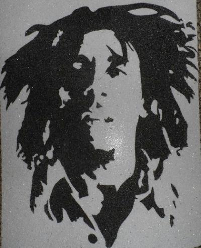 portrait bob marley en sable color - Dessin Sable Color