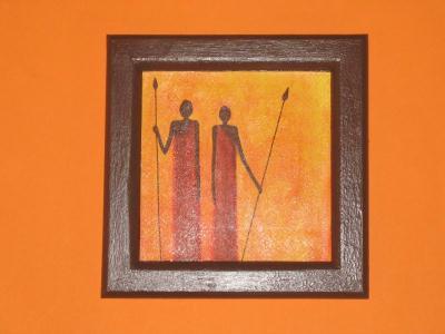 cadre guerriers africain cr ation serviettes en papier de laetyp n 5 046 vue 2 319 fois. Black Bedroom Furniture Sets. Home Design Ideas